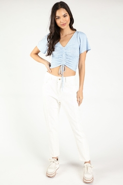 Honey Punch Ruched Front Crop Top - Product List Image