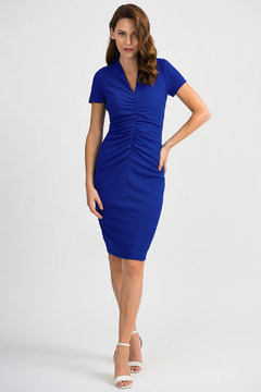 Joseph Ribkoff Ruched Front Dress - Product List Image