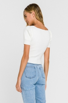 Endless Rose Ruched Front Sweater Tee - Alternate List Image