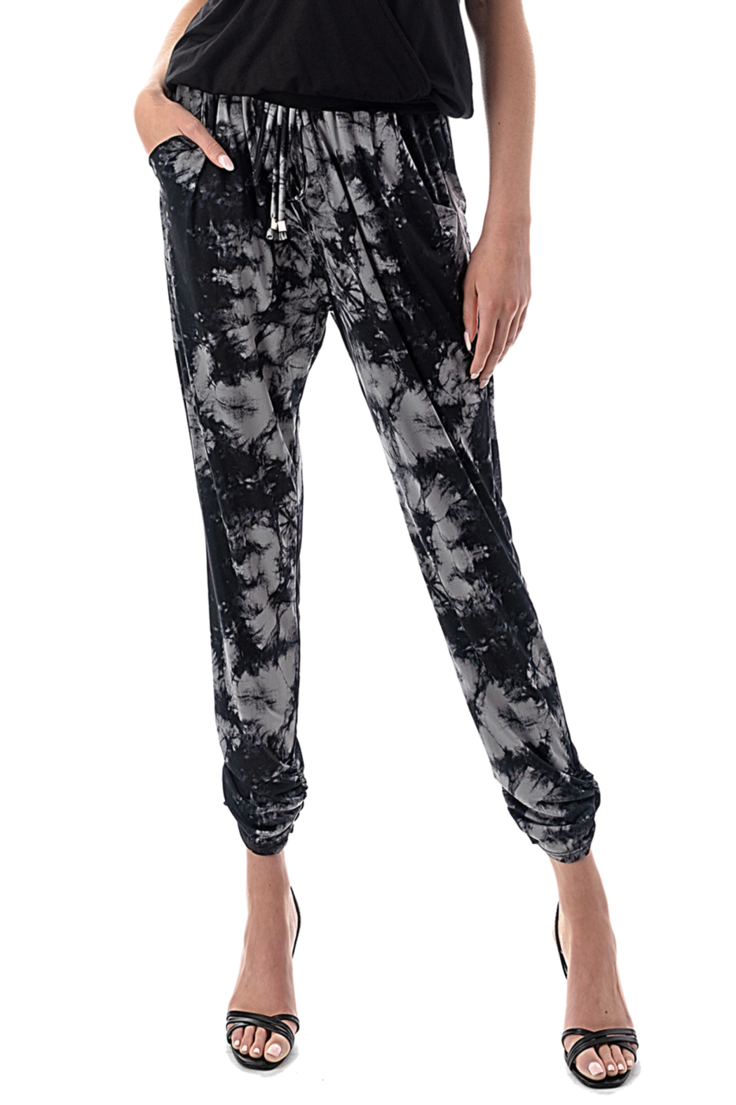 Ariella Ruched Leg Jogger - Front Cropped Image