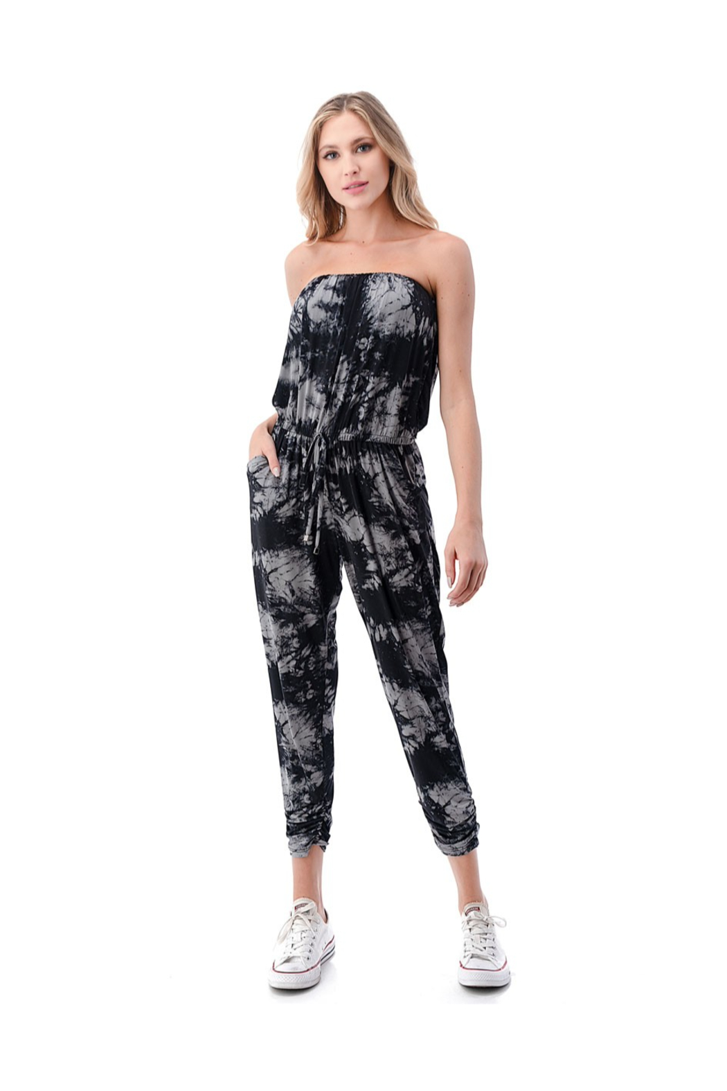 Ariella Ruched Leg Jumpsuit - Front Cropped Image