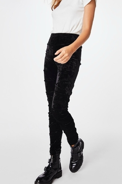 Nicole Miller Ruched Legging Velvet - Alternate List Image