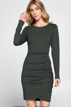 Shoptiques Product: Ruched Long Sleeve Dress