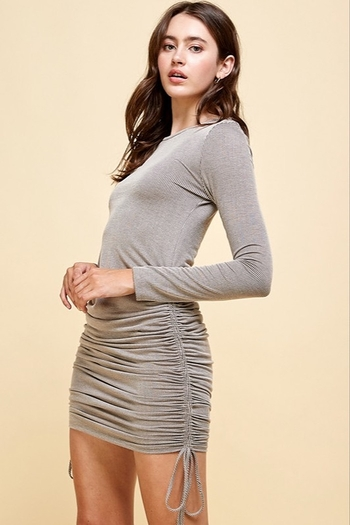 Livana Ruched Long Sleeve Mini from Guilford by A's Unique Boutique — Shoptiques