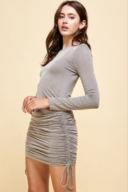 Livana Ruched Long Sleeve Mini - Front cropped