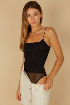 Shoptiques Product: Ruched Mesh Bodysuit