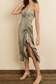 dress forum Ruched Midi Dress - Front cropped
