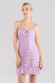 Naked Zebra  Ruched Mini Dress - Front cropped