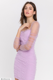 FREE THE ROSES Ruched Mini Dress - Front full body