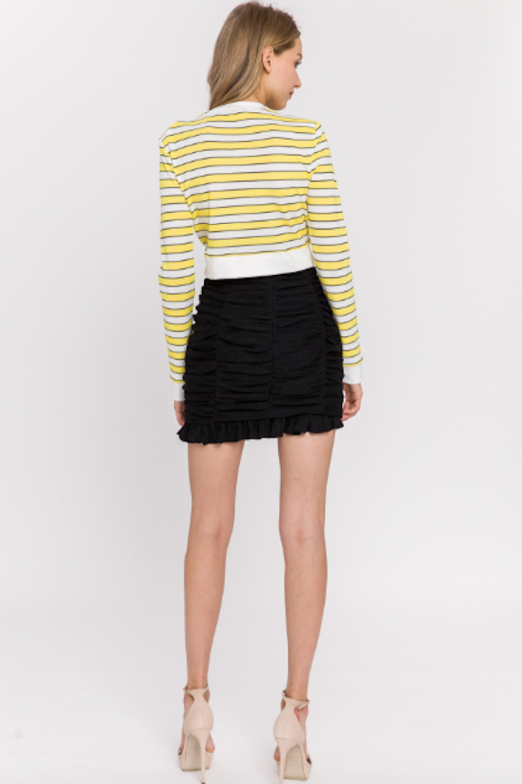 Endless Rose Ruched Mini Skirt - Side Cropped Image