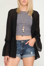 She + Sky Ruched Open Cardigan - Product Mini Image