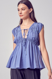 Do + Be  Ruched Peplum Top - Product Mini Image