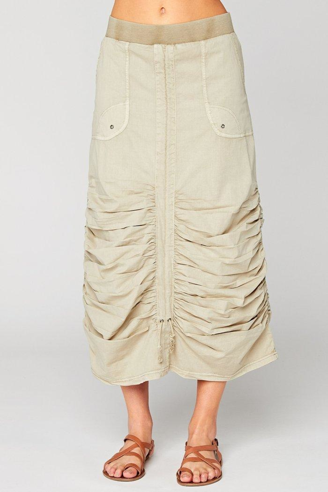 XCVI Wearables Ruched Poplin Skirt - Main Image