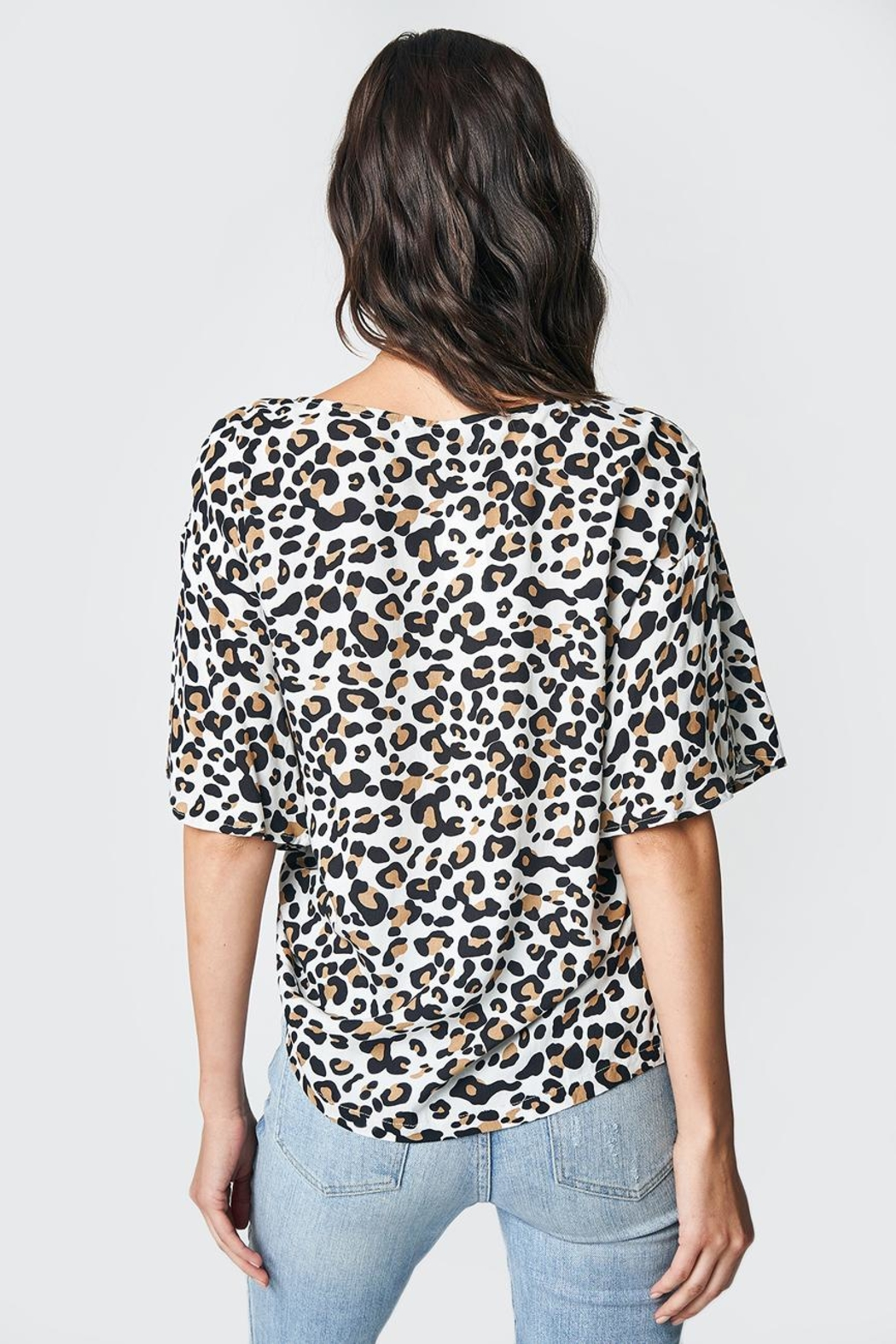 Sugar Lips Ruched Print Top - Side Cropped Image