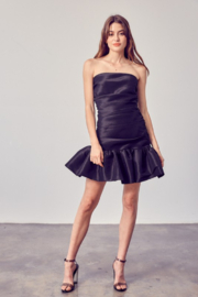 Do + Be  Ruched Ruffle Bottom Dress - Other