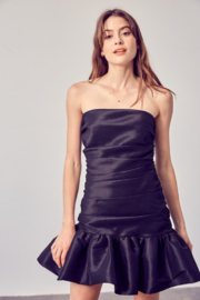 Do + Be  Ruched Ruffle Bottom Dress - Front cropped