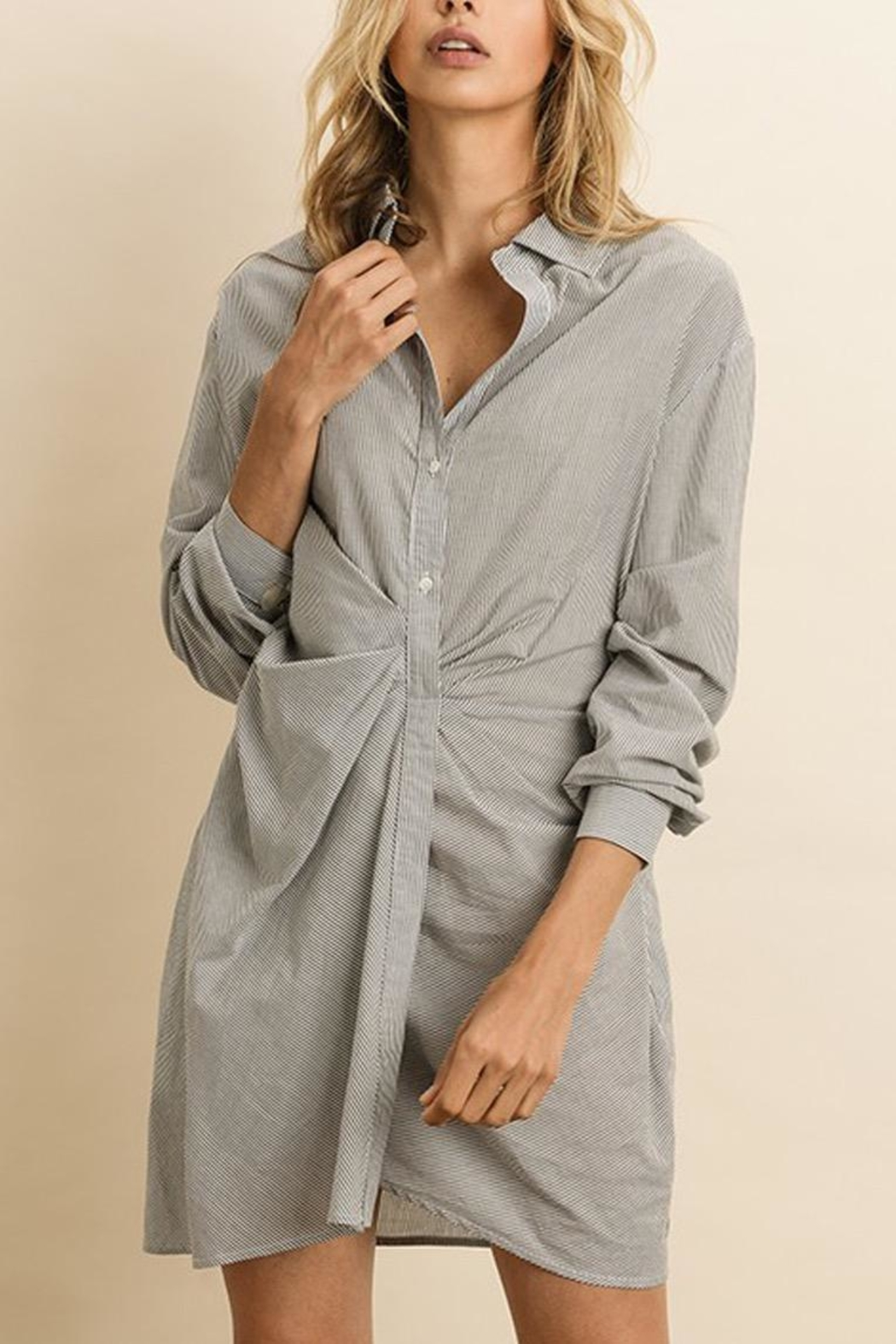 dress forum Ruched Shirt Dress - Front Full Image