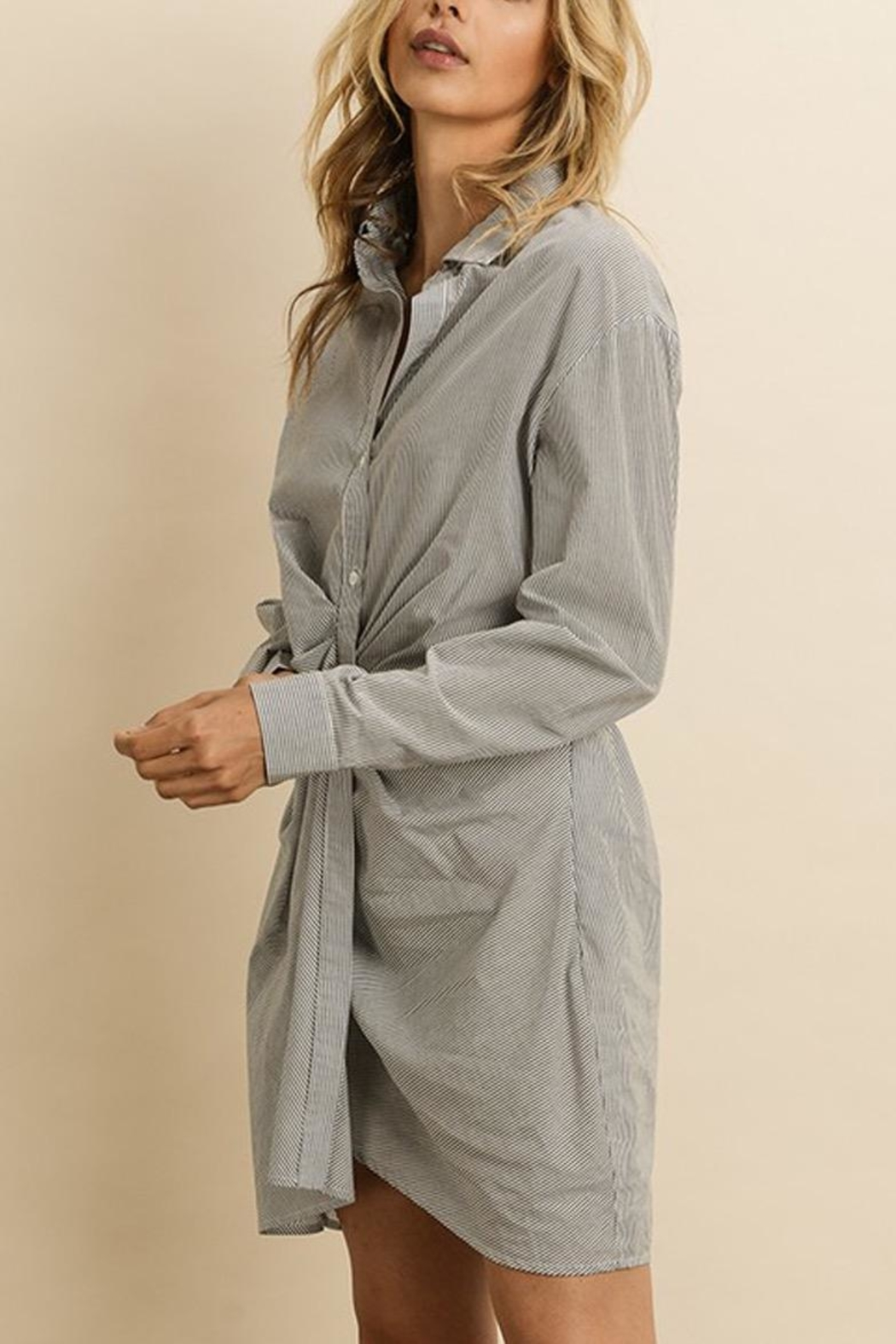dress forum Ruched Shirt Dress - Side Cropped Image
