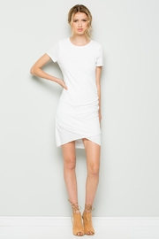 Wasabi + Mint Ruched Shirt Dress - Front cropped