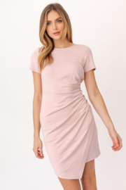 Gilli Ruched Side Knit Dress - Product Mini Image