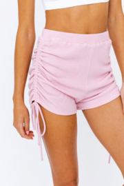Le Lis Ruched Side Knit Short - Product Mini Image