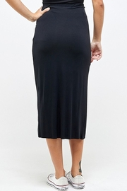 Wasabi + Mint Ruched Side Skirt - Back cropped