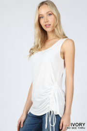 Lyn -Maree's Ruched Side Tank - Product Mini Image