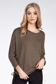 Dex Ruched Side Tee - Product Mini Image