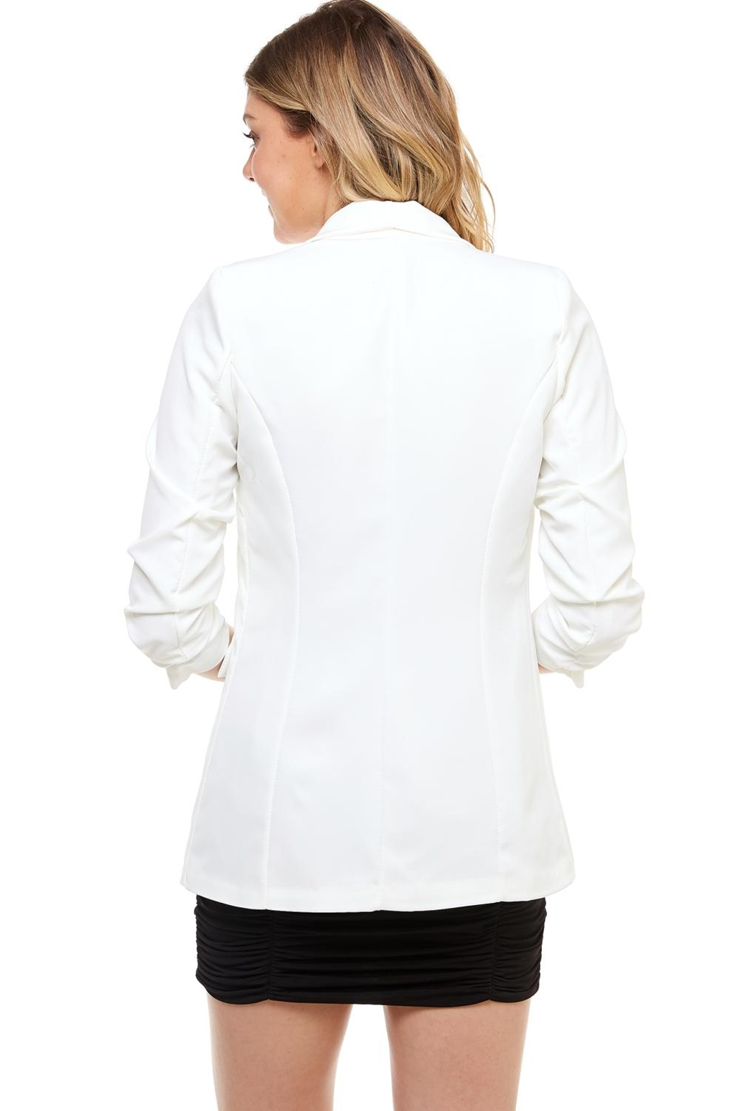 Venti 6 Ruched Sleeve Blazer - Side Cropped Image