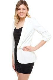 Venti 6 Ruched Sleeve Blazer - Front full body
