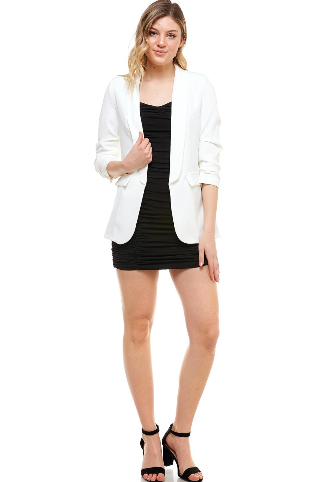 Venti 6 Ruched Sleeve Blazer - Main Image
