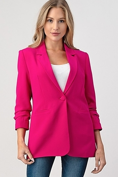Shoptiques Product: Ruched Sleeve Blazer
