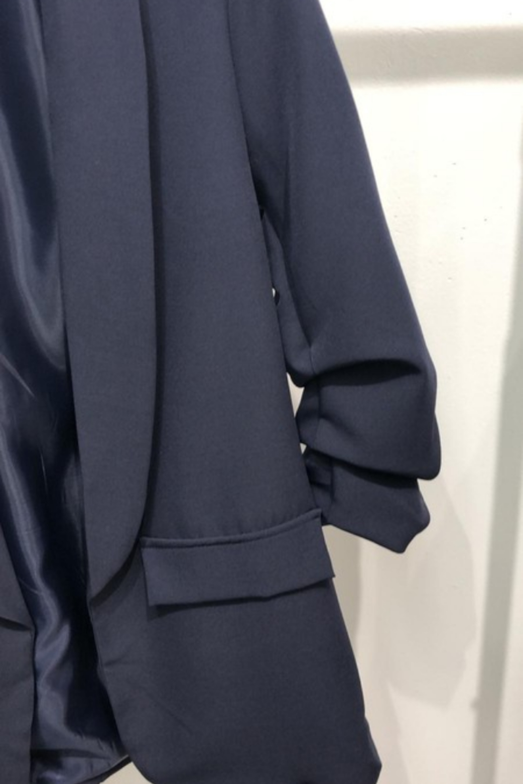 Venti6 Ruched Sleeve Blazer - Front Full Image