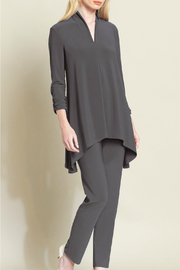 Clara Sunwoo Ruched Sleeve Deep V Tunic - Product Mini Image