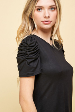 Les Amis Ruched Sleeve Detail Top - Alternate List Image