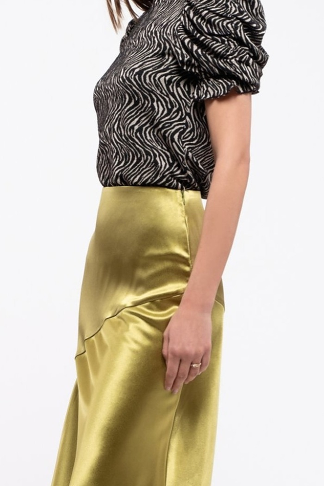Moon River Ruched Sleeve Top - Side Cropped Image