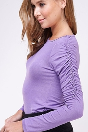 If She Loves Ruched Sleeve Top - Product Mini Image