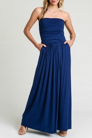 Jodifl Ruched Strapless Maxi - Product Mini Image