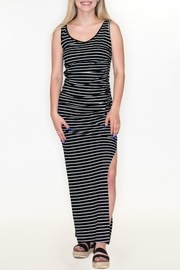 Cherish Ruched Stripe Dress - Product Mini Image