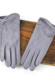 Pretty Persuasions Ruched Suede-Like Gloves - Product Mini Image