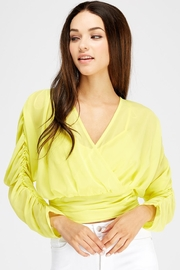 Flying Tomato Ruched Surplice Top - Product Mini Image
