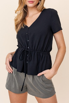 Gilli  Ruched Waist Blouse - Product List Image