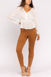 Le Lis Ruched Waist Button Down Top - Product Mini Image