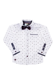 Nano Rudolph Shirt & Bowtie - Front cropped