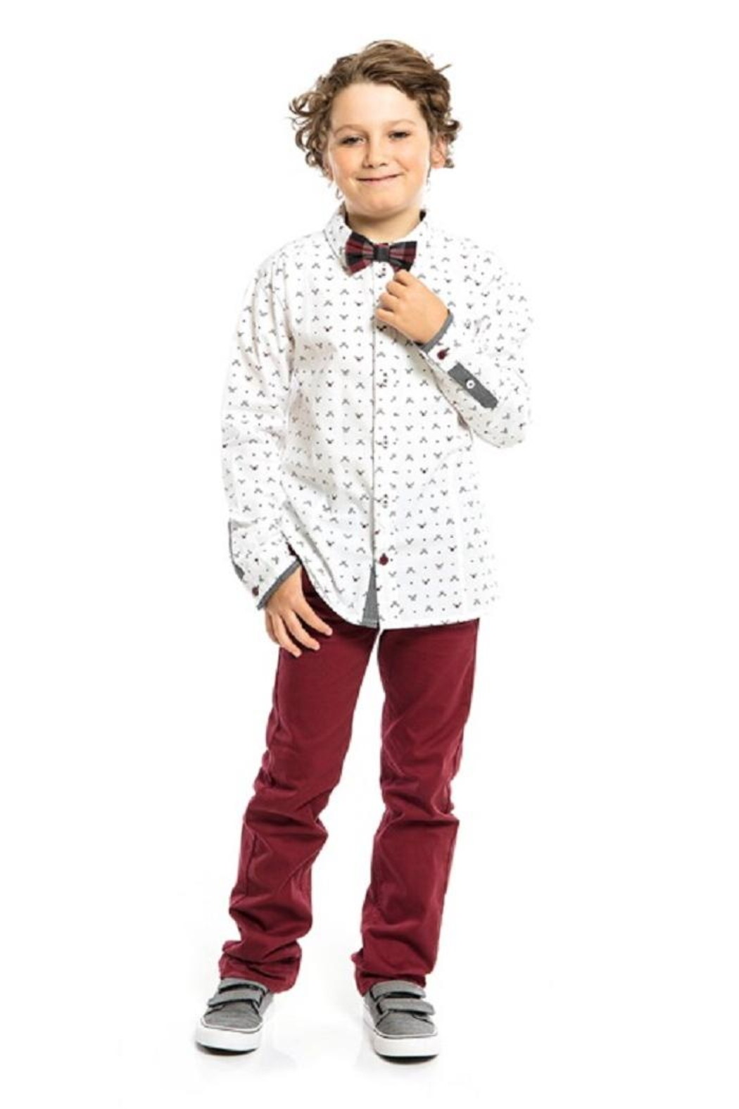Nano Rudolph Shirt & Bowtie - Side Cropped Image