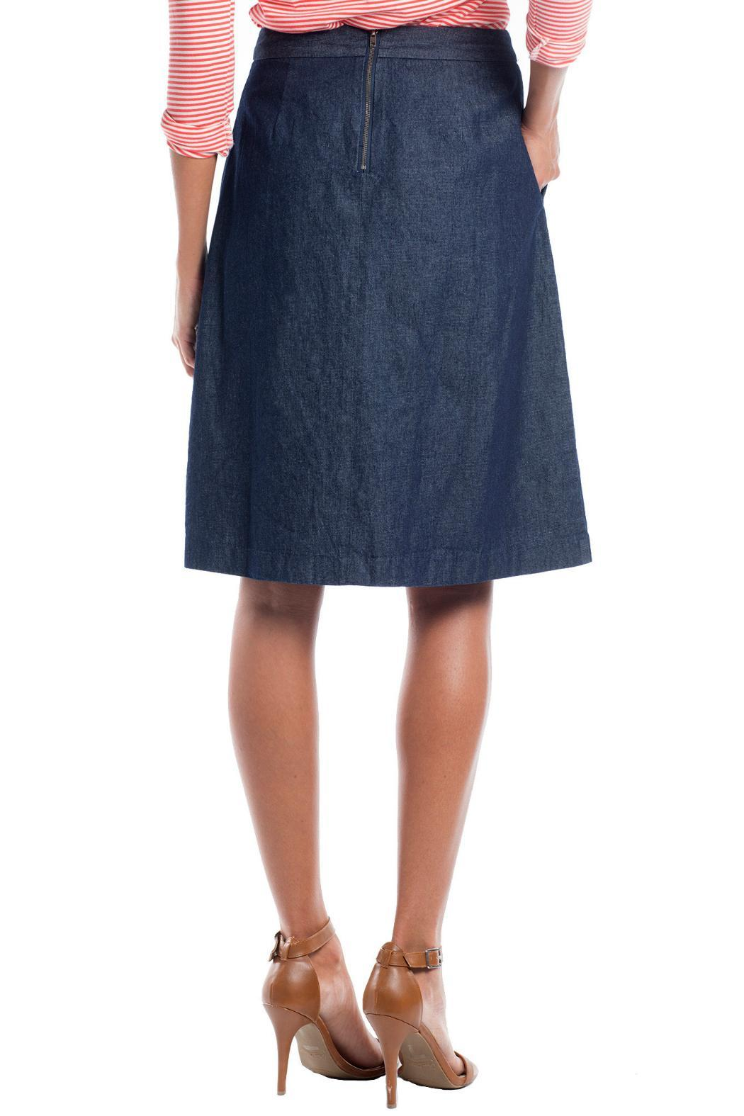 Ruelle Boutique Blue Jean Skirt - Front Full Image