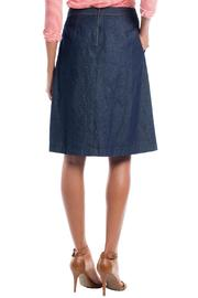 Ruelle Boutique Blue Jean Skirt - Front full body