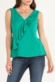 Miss Me Ruffle-Around Peplum Top - Front cropped