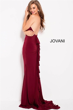 Jovani Ruffle Back Gown - Product List Image