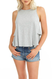 Bobi Ruffle Back Tank - Product Mini Image